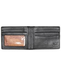 Patricia Nash - Black Men's Heritage Leather Double Billfold Id Wallet - Lyst