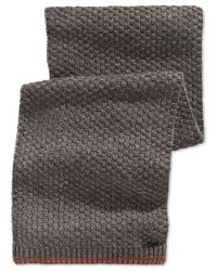 Calvin Klein | Gray Twisted Thermal-tipped Muffler Scarf for Men | Lyst