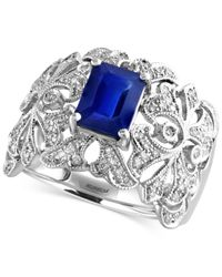 Effy Collection | Multicolor Sapphire (1-1/2 Ct. T.w.) And Diamond (1/3 Ct. T.w.) Ring In 14k White Gold | Lyst
