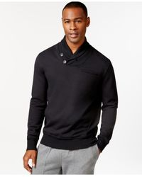 Sean John | Black Alpha Two-button Shawl Collar Sweater for Men | Lyst