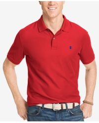Izod | Red Performance Advantage Pique Polo for Men | Lyst