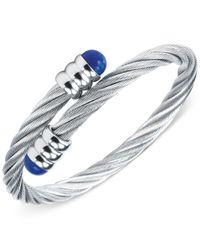 Charriol   Metallic Silver-tone Lapis Lazuli Cable Bangle Bracelet   Lyst