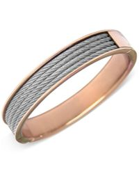 Charriol | Metallic Womens Two-tone Cable Bangle Bracelet | Lyst