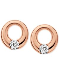 Skagen | Pink Elin Rose Gold-tone Circle Stud Earrings | Lyst