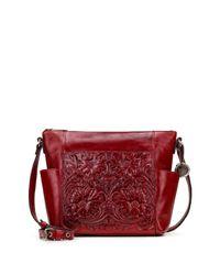 Patricia Nash Red Leather Aveley Crossbody