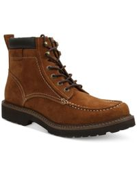 G.H. Bass & Co. | Brown Errol Moc Toe Boots for Men | Lyst