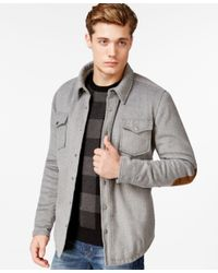 American Rag | Gray Men's Elbow-patch Shirt Jacket, Only At Macy's for Men | Lyst