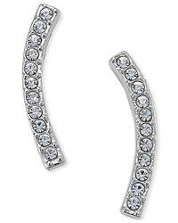 Danori | Metallic Silver-tone Pave Ear Crawler Earrings | Lyst