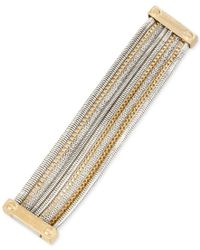 Kenneth Cole | Metallic Two-tone Chain Multi-row Bracelet | Lyst