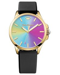 Juicy Couture | Women's Jetsetter Black Silicone Strap Watch 38mm 1901343 | Lyst