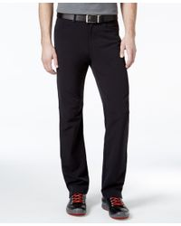 Calvin Klein | Stretch Twill Black Wash Pants for Men | Lyst