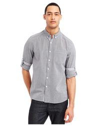 Kenneth Cole Reaction - Gray Micro-check Shirt for Men - Lyst