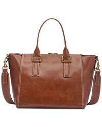 CALVIN KLEIN 205W39NYC - Brown Brynn Leather Satchel - Lyst