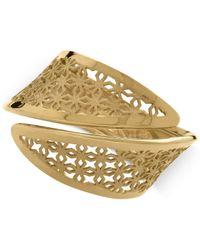 Macy's | Metallic Flower Cutout Bypass Ring In 14k Gold | Lyst