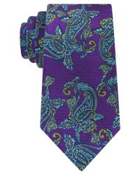 Peter Thomas | Purple Fancy Paisley Tie for Men | Lyst