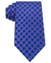 Peter Thomas | Purple Tossed Floral Oval Tie for Men | Lyst