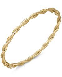Macy's - Metallic Twist-style Hinged Bangle Bracelet In 14k Gold - Lyst