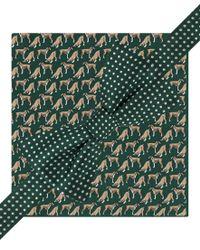 Tommy Hilfiger Blue Dots & Boxers Tie & Pkt Sq Neck Tie Set, , Short for men