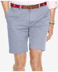 Polo Ralph Lauren | Blue Men's Classic-fit Flat-front Chino Shorts for Men | Lyst