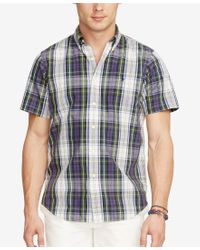 Polo Ralph Lauren - Blue Men's Short-sleeve Plaid Shirt for Men - Lyst