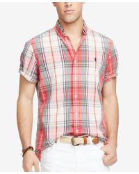 Polo Ralph Lauren - Multicolor Men's Short-sleeve Plaid Shirt for Men - Lyst