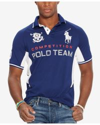 Polo Ralph Lauren - Yellow Men's Black Watch Custom-fit Pieced Polo Shirt for Men - Lyst