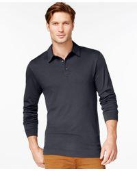 Cutter & Buck | Black Belfair Pima Long-sleeve Polo for Men | Lyst