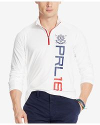 Polo Ralph Lauren - White Men's Black Watch Half-zip Jersey Pullover for Men - Lyst
