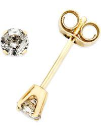 Macy's | Metallic Diamond (1/4 Ct. T.w.) Stud Earrings In 10k Gold | Lyst