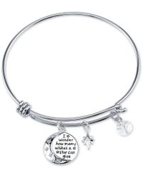 Disney | Metallic Winnie The Pooh Wishes Crystal Charm Bracelet In Stainless Steel | Lyst