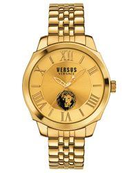 Versus Metallic Men's Chelsea Gold-tone Ion-plated Stainless Steel Bracelet Watch 42mm Sov060015 for men