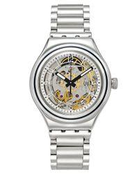 Swatch - Metallic Unisex Swiss Automatic Tech Mode Stainless Steel Bracelet Watch 38mm Yas112g - Lyst