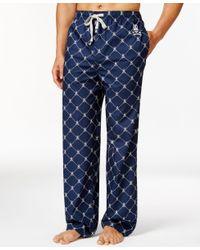 Psycho Bunny | Blue Sleepwear Woven Diagonal Dot Pajama Pants for Men | Lyst