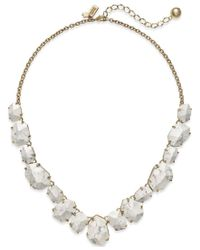 Kate Spade | Metallic 12k Gold-plated Faceted Stone Frontal Necklace | Lyst