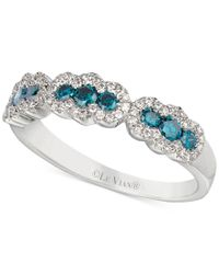 Le Vian   Exotics Blue And White Diamond Ring (1/2 Ct. T.w.) In 14k White Gold   Lyst