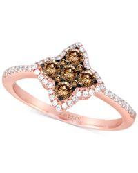 Le Vian | Multicolor Chocolatier Diamond Star Ring (1/2 Ct. T.w.) In 14k Rose Gold | Lyst