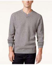 Tommy Bahama | Gray Abaco Flip Side Reversible Split-neck Sweater for Men | Lyst
