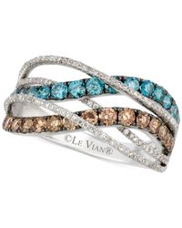 Le Vian | Exotics Chocolate And Blue Diamond Ring (1- 1/3 Ct. T.w.) In 14k White Gold | Lyst