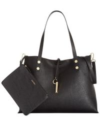 Calvin Klein | Black Extra Large Reversible Tote With Pouch | Lyst