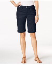 Style & Co. | Blue Cargo Shorts | Lyst