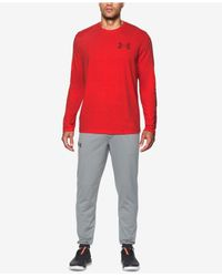 Under Armour - Red Men's Charged Cotton® Long-sleeve T-shirt for Men - Lyst