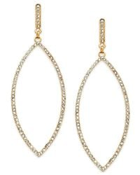 INC International Concepts | Metallic Gold-tone Pave Leaf Drop Earrings, Only At Macy's | Lyst