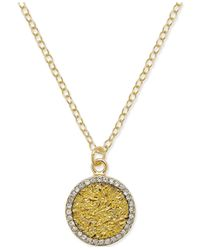 kate spade new york | Metallic 12k Gold-plated Glitter Pave Pendant Necklace | Lyst