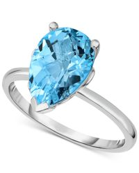 Macy's | Blue Topaz (3-5/8 Ct. T.w.) Ring In Sterling Silver | Lyst
