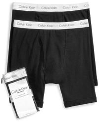 Calvin Klein | Black Men's Big And Tall Classic 2-pack Boxer Briefs for Men | Lyst