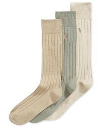 Polo Ralph Lauren Natural Three-pack Crew Socks for men
