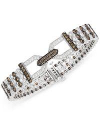 Le Vian | Multicolor Chocolatier Chocolate Deco Estate Diamond (6-3/4 Ct. T.w.) Bracelet In 14k White Gold | Lyst