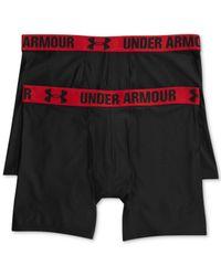 Under Armour Black Men's Heatgear 6'' Boxerjock 2-pack for men