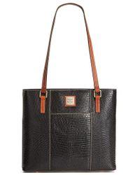 Dooney & Bourke | Black Lizard-embossed Small Lexington Shopper, A Macy's Exclusive Style | Lyst