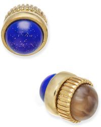Marc By Marc Jacobs - Multicolor Gold-tone Dual Stone Magnetic Reversible Stud Earrings - Lyst
